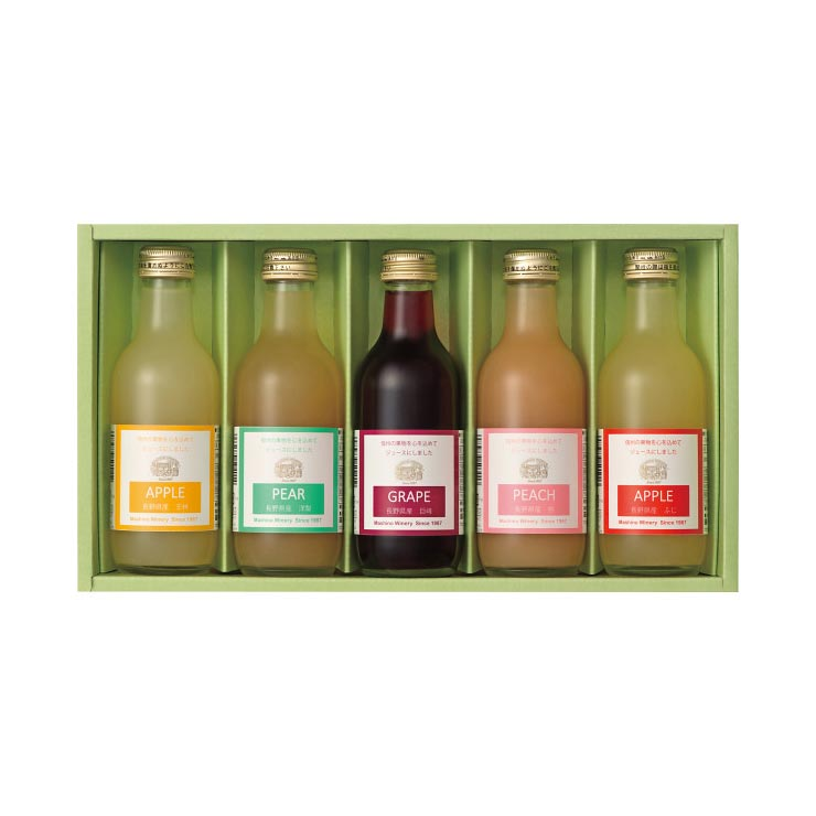 【送料無料】長野県産 果汁100%ジュース詰合せ HM−5 の商品画像