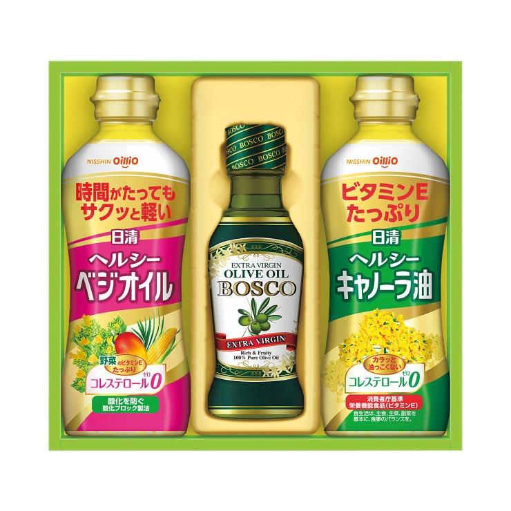 【送料無料】日清 オリーブオイル&バラエティオイルギフト OV−15 の商品画像
