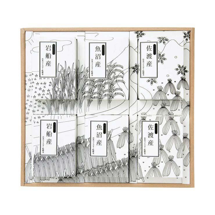 【送料無料】新潟米 食べ比べギフトセット O−NK450−6 の商品画像