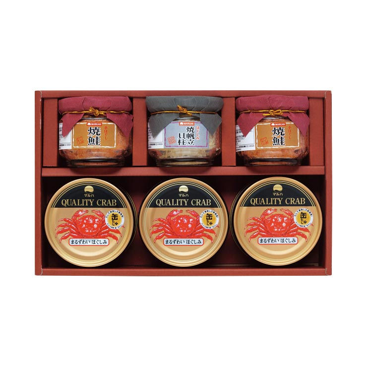 【送料無料】マルハ 高級瓶詰・かに缶詰詰合せ SB−30K の商品画像