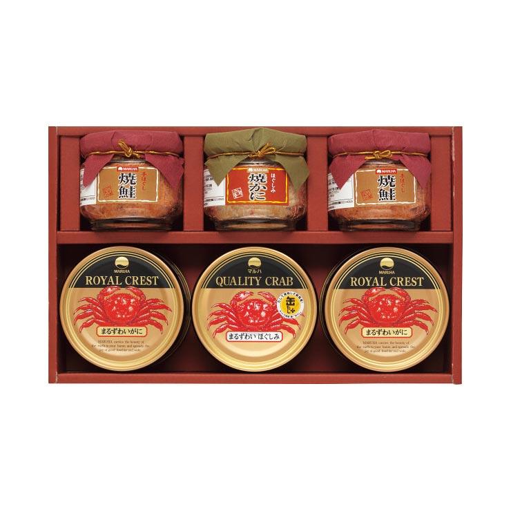 【送料無料】マルハ 高級瓶詰・かに缶詰詰合せ SB−40K の商品画像