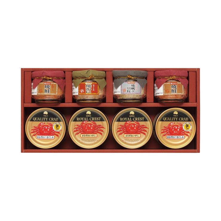 【送料無料】マルハ 高級瓶詰・かに缶詰詰合せ SB−50K の商品画像