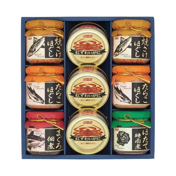 【送料無料】ニッスイ 紅ずわいがに缶・瓶詰セット B−50 の商品画像