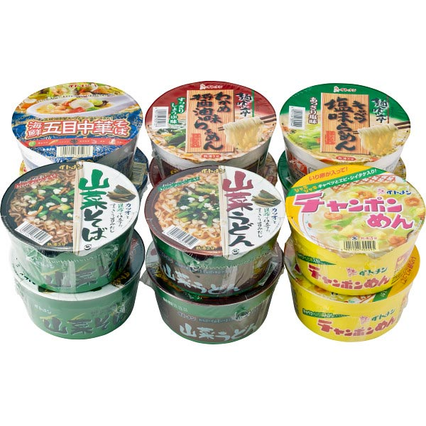 【送料無料】カップめん詰合せ(12食) の商品画像