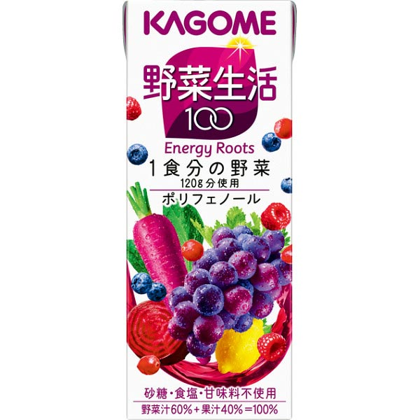 【送料無料】カゴメ 野菜生活100 エナジールーツ(24本) の商品画像