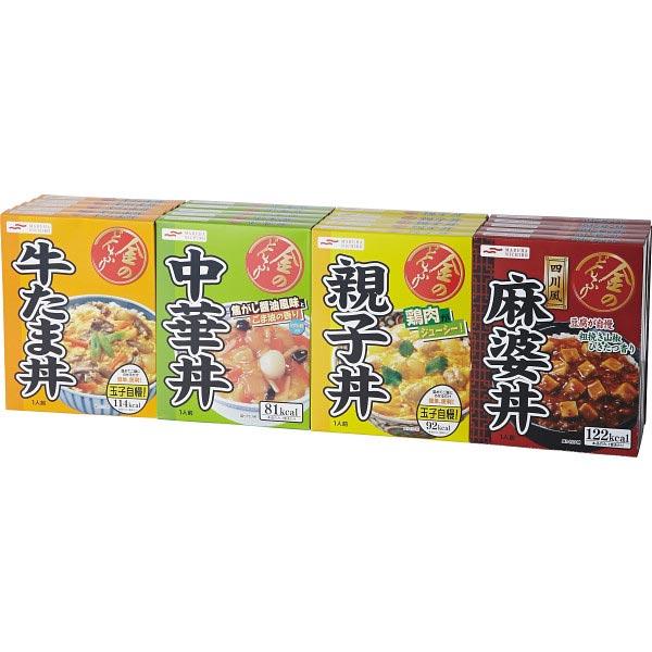 【送料無料】マルハニチロ 4種のレトルトどんぶり詰合せ(計20食) の商品画像