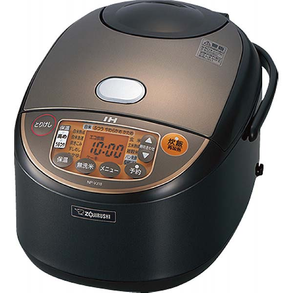 象印 IH炊飯ジャー(1升) ブラウン NP-VJ18-TA の商品画像