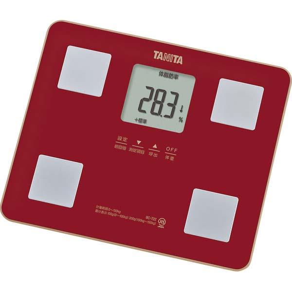 タニタ 体組成計 レッド BC-722-RD  の商品画像
