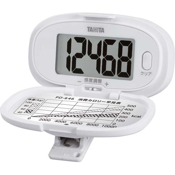 タニタ 歩数計 ホワイト PD-646-WH  の商品画像