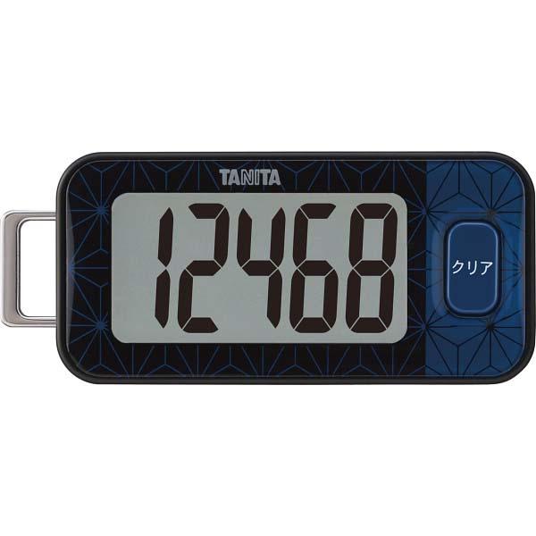 タニタ 3Dセンサー搭載歩数計 ブルーブラック FB-740-BK  の商品画像