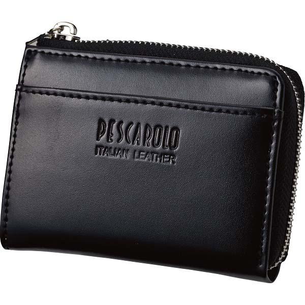 ペスカロロ イタリアンレザー小銭入 ブラック PR605A の商品画像