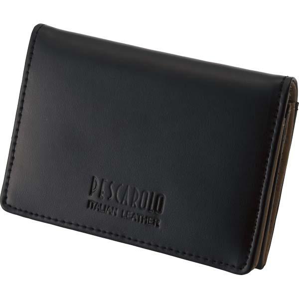 ペスカロロ イタリアンレザー名刺入 ブラック PR604A の商品画像