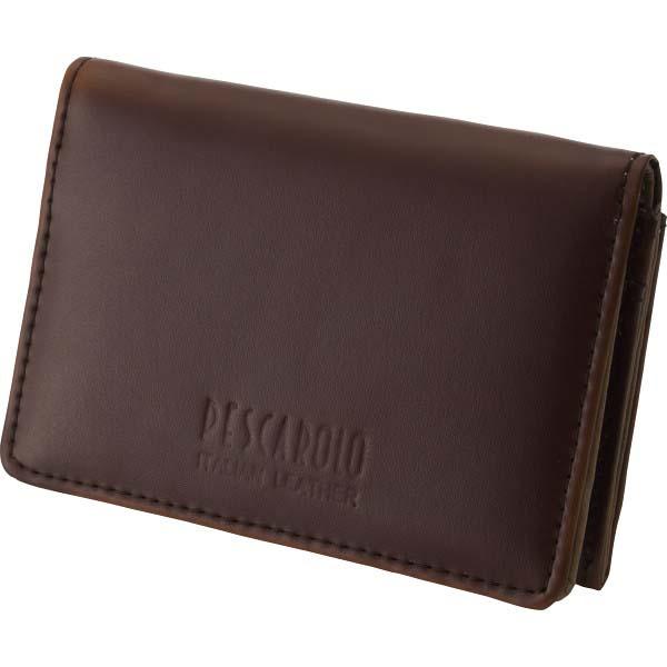 ペスカロロ イタリアンレザー名刺入 ブラウン PR604C の商品画像