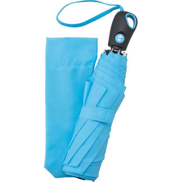 耐風式 自動開閉ミニ傘 ブルー 2007-BLUE の商品画像