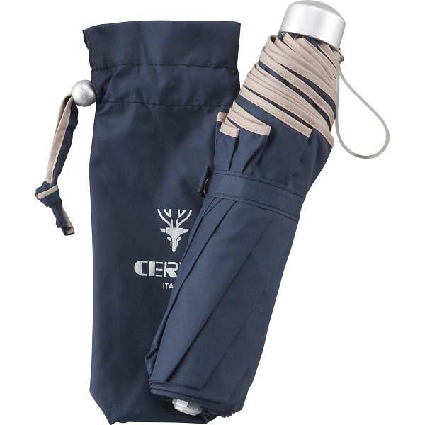 チェルベ 男女兼用 パイピングミニ傘 ネイビー OCV-2500MNV の商品画像