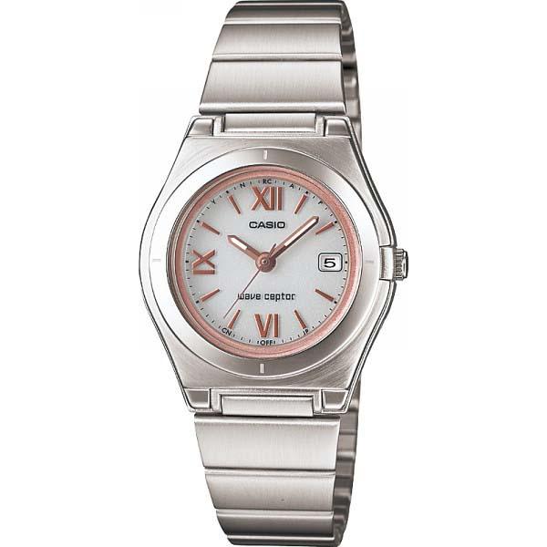 カシオ ソーラー電波レディース腕時計 ホワイト/ピンク LWQ-10DJ-7A2JF の商品画像
