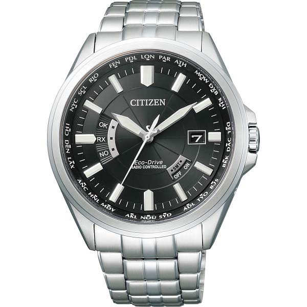シチズン メンズ電波腕時計 ブラック CB0011-69E の商品画像