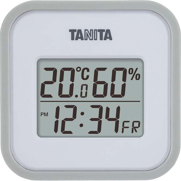 タニタ デジタル温湿度計 グレー TT558GY  の商品画像