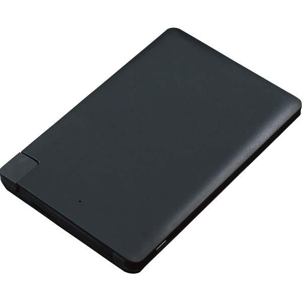 アイティプロテック カードサイズ2500mAモバイルバッテリー YT-PB25USL-BK の商品画像