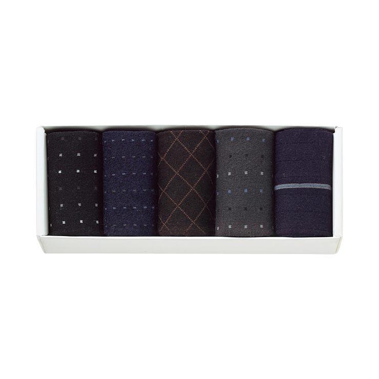 紳士ビジネス&カジュアルソックス 5足セット N−036 の商品画像