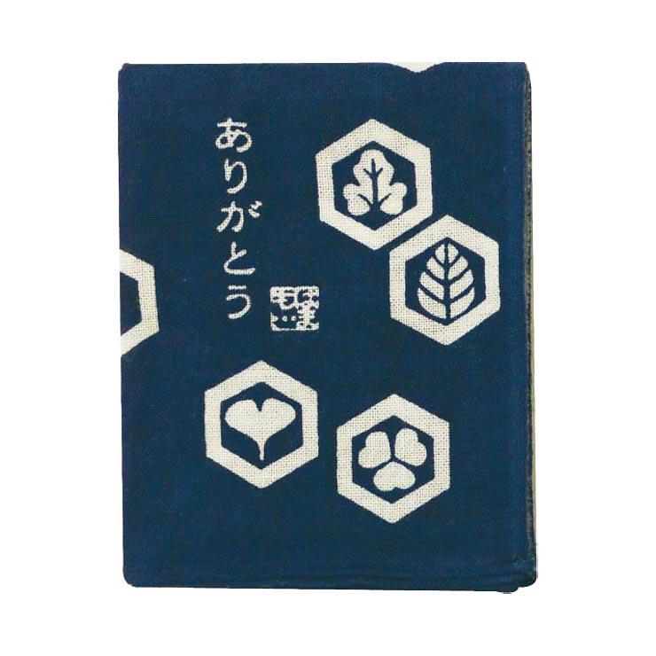 濱文様 ひとことはんかち ありがとう�U/紺  の商品画像