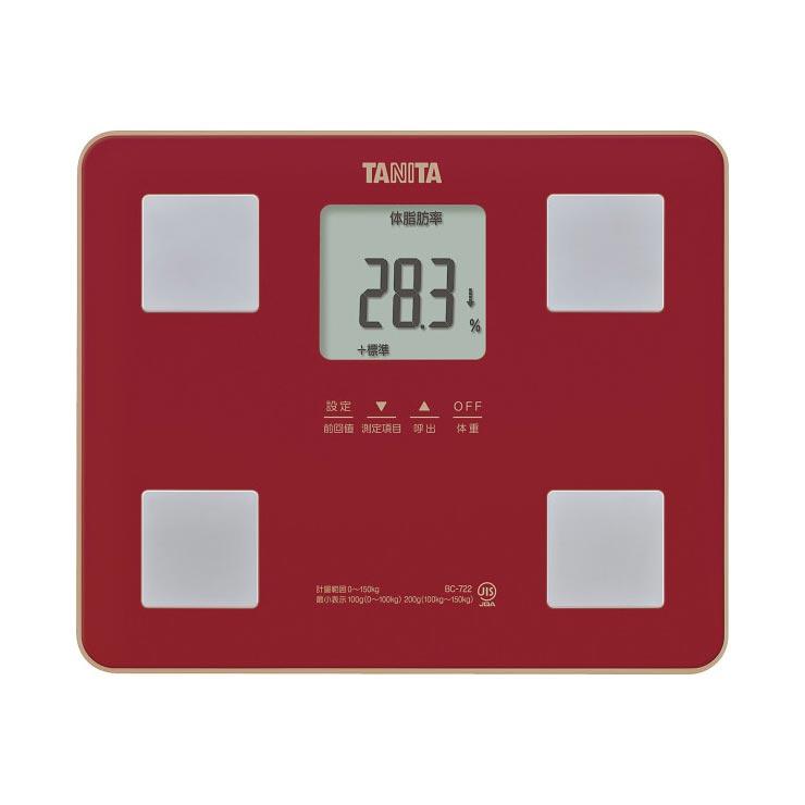 タニタ 体組成計レッド BC‐722‐RD の商品画像