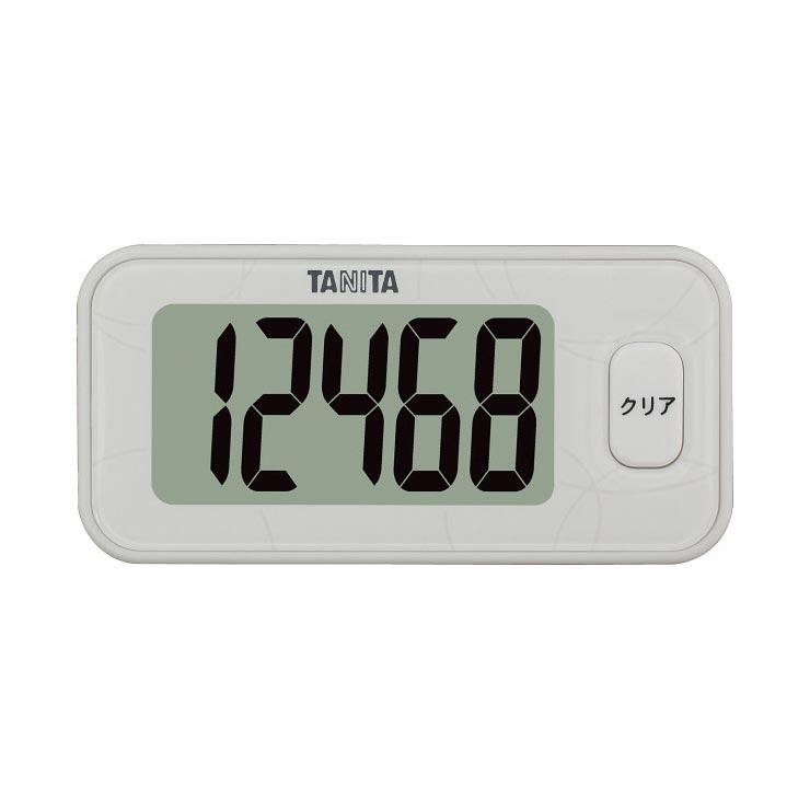 タニタ 3Dセンサー搭載歩数計 ホワイト FB731WH の商品画像