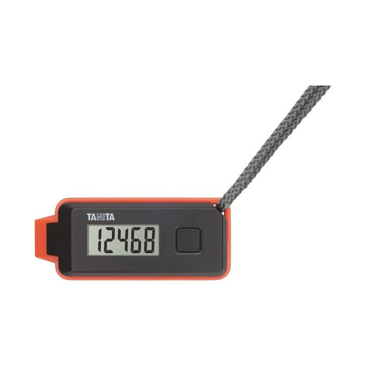 タニタ 3Dセンサー搭載歩数計 歩イッスルブラック FB−739−BK の商品画像