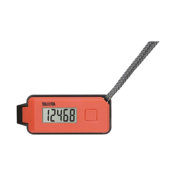 タニタ 3Dセンサー搭載歩数計 歩イッスルオレンジ FB−739−OR の商品画像