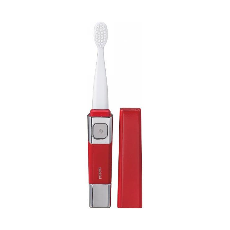 ツインバード 音波振動式歯ブラシ レッド BD−2755R の商品画像