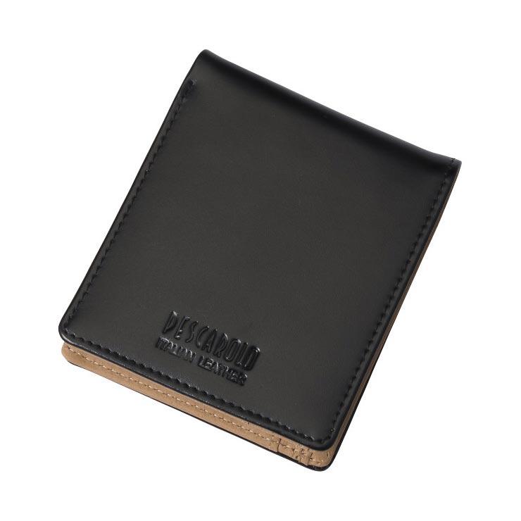 ペスカロロ イタリアンレザー札入 ブラック PR603A の商品画像