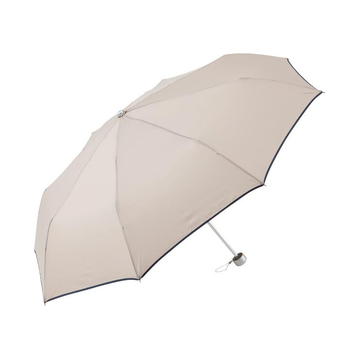 チェルベ 男女兼用 パイピングミニ傘ベージュ OCV‐2500MBE の商品画像